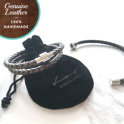 [3-5 Days Pre-Order] Braided Leather Bracelet- Magnetic clasp