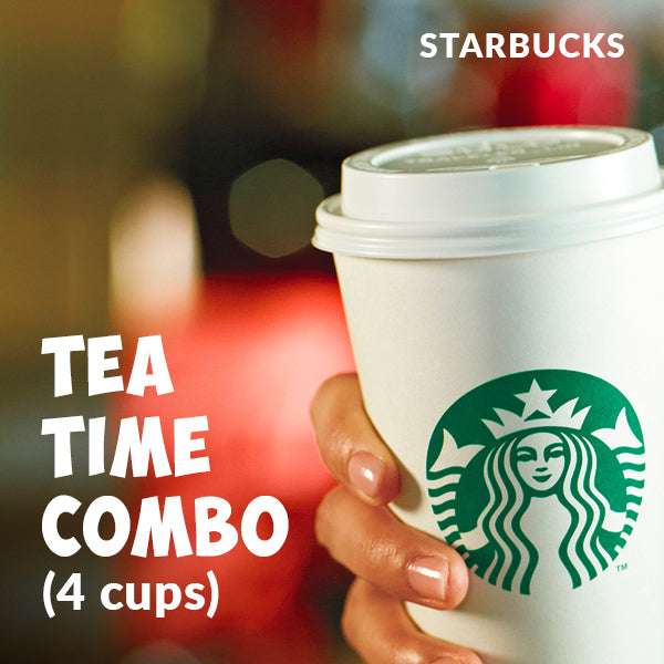 STARBUCKS Tea Time Combo - 4 Cups