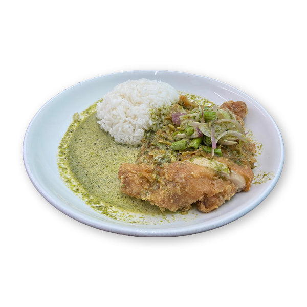 Yum Yum Creamy Basil Chicken Chop Rice