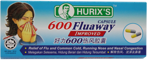 Hurix's 600 Fluaway Capsule Improved 6'S6 Tablets Per Strip