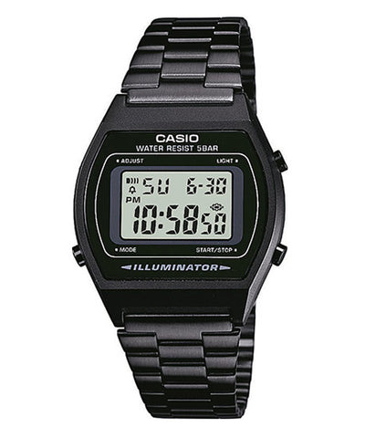 CASIO DIGITAL B640WB-1AV Men/Ladies Digital Watch | Retro Black Tone