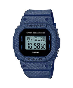 CASIO Ladies BABY-G BGD-560DE-2D Digital Watch Denim Jeans Young Gen.