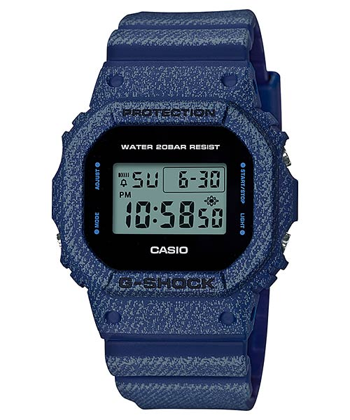 CASIO G-SHOCK DW-5600DE-2D Digital Watch | Denim Jeans Young Gen.