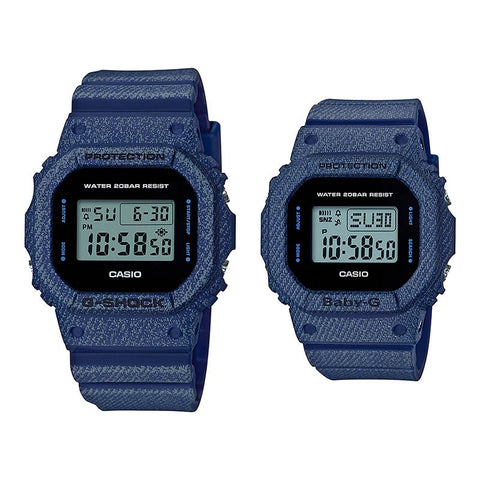 CASIO G-SHOCK BABY-G DW-5600DE-2D BGD-560DE-2D Couple Watch Denim