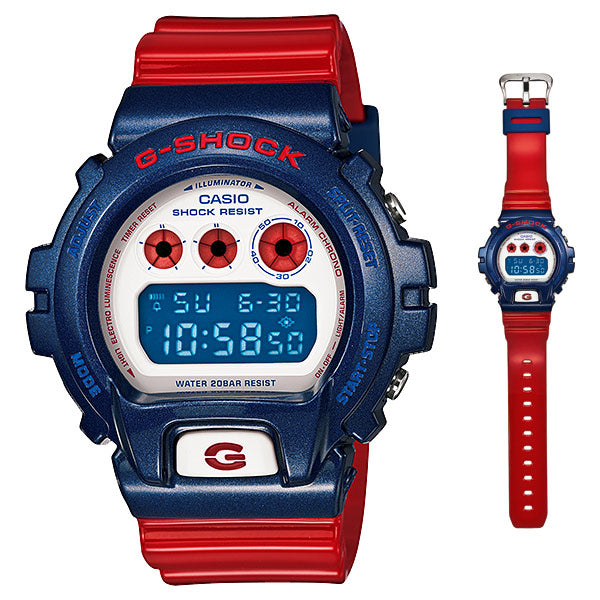 CASIO G-SHOCK DW-6900AC-2 STANDARD Digital Watch | Red & Blue Colors