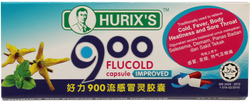 Hurix's 900 Flu Cold Capsule Improved 6 Tablets Per Strip