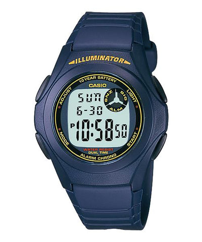 CASIO STANDARD F-200W-2B Digital Watch | Classic Simple Young Design