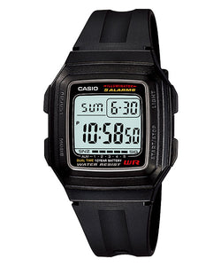 CASIO STANDARD F-201WA-1A Digital Watch | Classic Simple Young Design