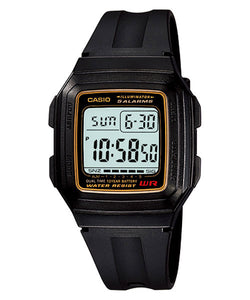 CASIO STANDARD F-201WA-9A Digital Watch | Classic Simple Young Design