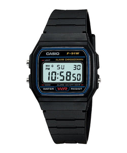CASIO STANDARD F-91W-1S Digital Watch | Classic Since 1991 Calendar