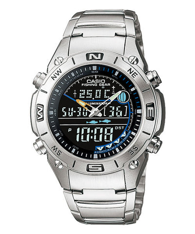 CASIO OUTGEAR AMW-703D-1AV Fishing Gear Watch |Timer.Thermo.Moon.Data