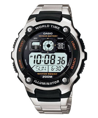 CASIO STANDARD AE-2000WD-1AV Digital Watch | 10 Yrs Batt. WR200M