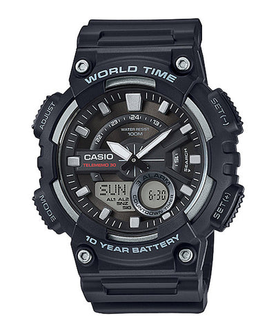 CASIO STANDARD AEQ-110W-1AV Analog Digital Watch | 10 Years Battery