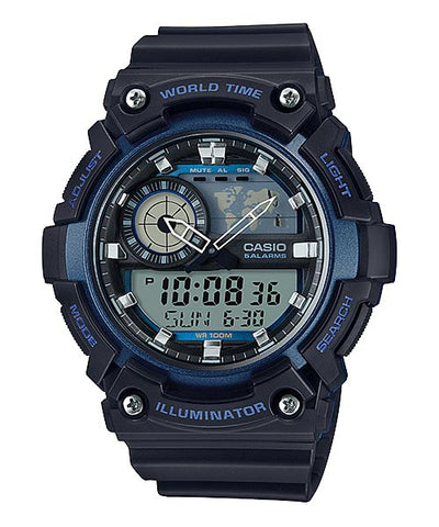 CASIO STANDARD AEQ-200W-2AV Analog Digital Watch | World Map