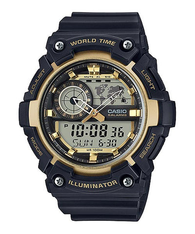 CASIO STANDARD AEQ-200W-9AV Analog Digital Watch | World Map