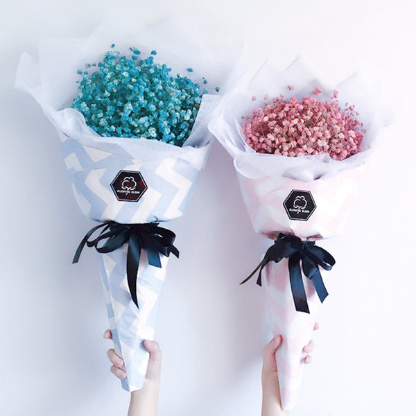 [1 Day Pre-Order] GELATO: Baby's Breath Cone Bouquet