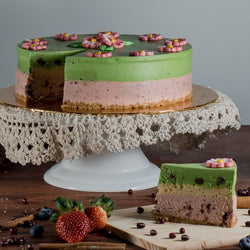 Green Tea Red Bean Cheesecake