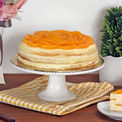 Peach Yogurt Cheese Crepe Cake