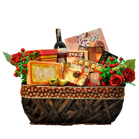 [1 Day Pre-Order] IMPERIAL - ORIENTAL FESTIVE HAMPER - CHINESE DELICACIES W WINE