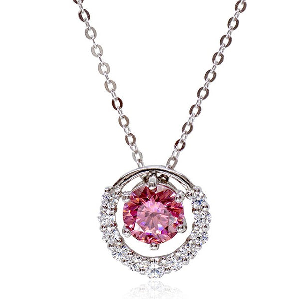 AJ Essential Multiway Pink Pendant Necklace Premium