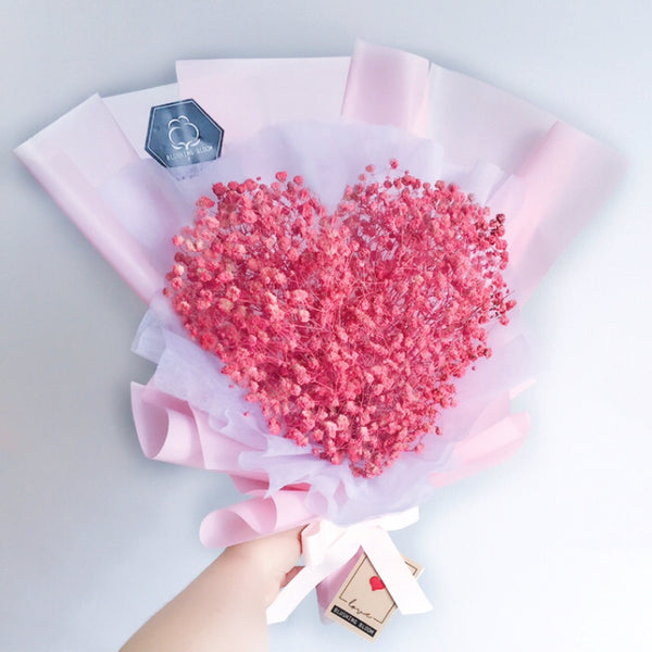 [1 Day Pre-Order] SWEET HEART: Baby's Breath Bouquet