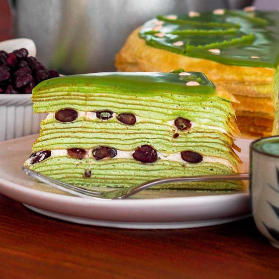 Green Tea Crepe Cake