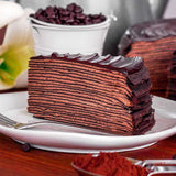 Triple Chocolate Mille Crepe Cake