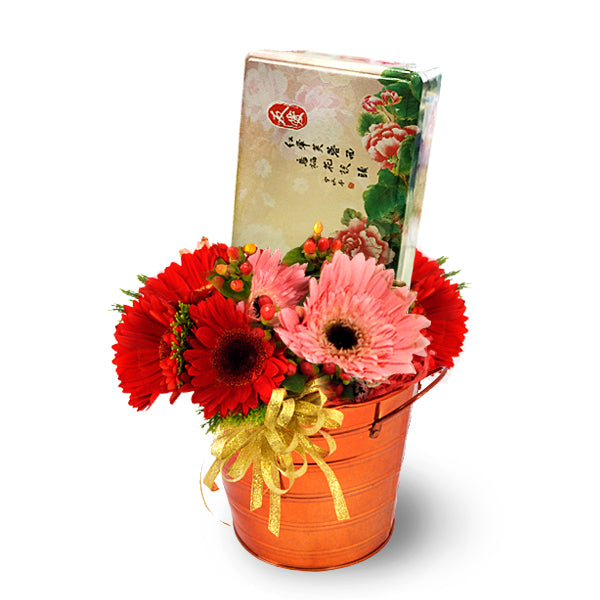 [1 Day Pre-Order] Sweet Glee - Mooncake Gift with Gerberas