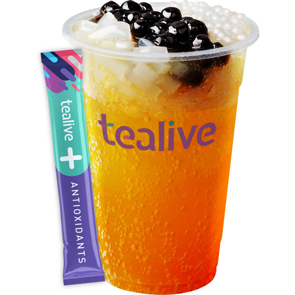 WT04 Mango Immuni-Tea - Sparkling Mango Tea 3Q Jelly with Antioxidant