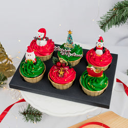 Christmas Buttercream Cupcakes (6 pcs)