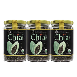 COUNTRY FARM Organic Chia Seeds 2 x 300g + 1 300g (on pack)
