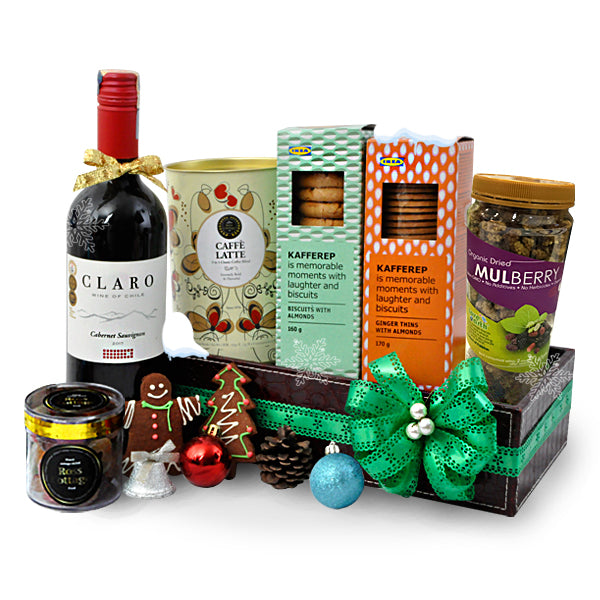 [1Day Pre-Order] ALAMEDA CHRISTMAS - FOOD HAMPER WITH WINE