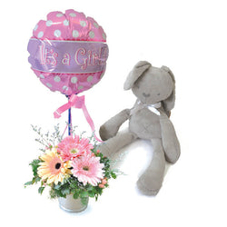Baby Cinnamon Bunny - Baby Show Gift It's a Girl or Boy Balloon