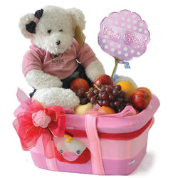 Baby Girl Boyds - Fruits in Tote Momma Bag Newborn shower Gift