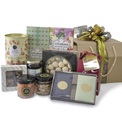 [3 Day Pre-Order] Basarili Raya Hamper - Halal Cookies, Honey, Nuts, Serunding Food Gift