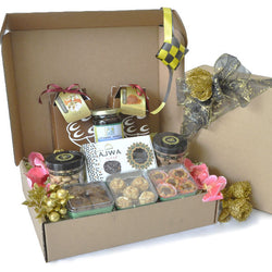 [3 Day Pre-Order] Bilge Halal Hamper - Festive Cookies, Honey, Ajwa Dates Gift Hamper