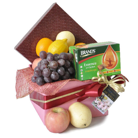 [1 Day Pre-Order] Essence of Health - Brand Cordyceps Essence of Chicken with Fruits Hamper Gift