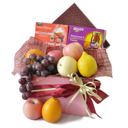 [1 Day Pre-Order] Fruity Essence Hamper - Brand Lutein Essence & Innershine Mato Bright with Fresh Fruits Gift
