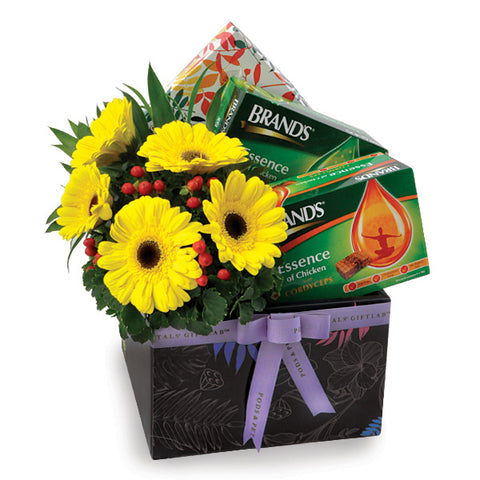 [1 Day Pre-Order] Health Essence - Get Well Brands Chicken Essence with Flowers Hamper