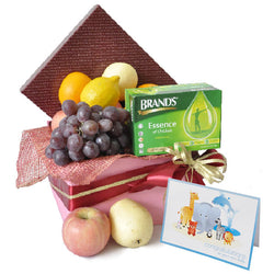 [1 Day Pre-Order] Healthy Mom - Brand's Essence of Chicken with Fruits & Baby Custom Card Gift Hamper