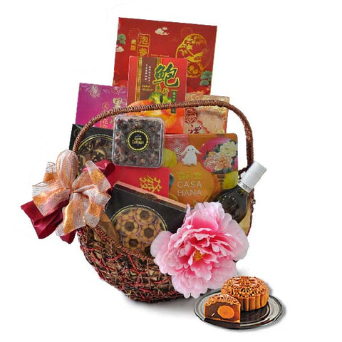 [1 Day Pre-Order] Mooncake Riches - Mooncake Hamper Gift Basket