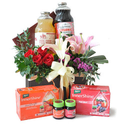 [1 Day Pre-Order] ORGANIC BEAUTY - LAKEWOOD JUICES, BRAND INNERSHINE ESSENCE W FLOWERS GIFT