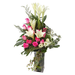 Stellar - Modonna Lilies & Roses in Vases