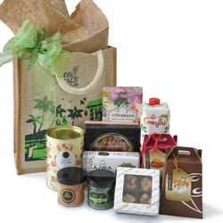 [3 Day Pre-Order] Tanri Halal Hamper - Cookies, Serunding. Dates in Eco Carrier Gift Bag