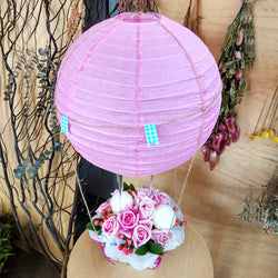 Roses in Hot Air Basket - Just For You
