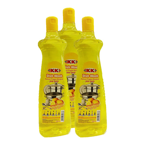 KK DISH WASH LEMON 1L (x3bottle)