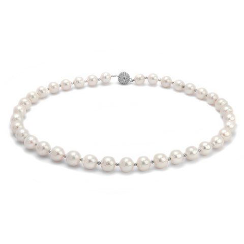 Angie Jewels & Co. Light Natalie Fresh Water Pearl Necklace Classic