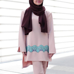 Qadirah Suit (Peach)
