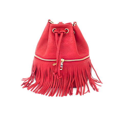 Cecille Bucket Bag - Red