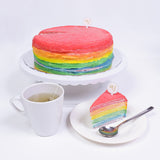 [1 days pre-order] Agnes's Favourite Rainbow Mille Crepe Cake